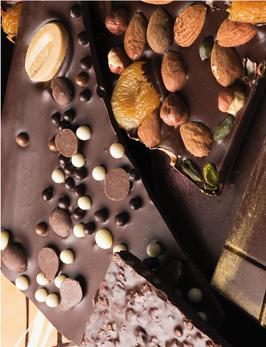 Feuilles en chocolat sans sucre