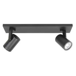 Plafondspot Halo 2/3 Lichts Balk Zwart/Wit