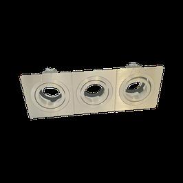 Inbouwspot 393/50 50mm Kantel rechthoek 3v aluminium