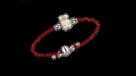 Bracciale Laccio Orso Rosso 0036