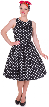 Dolly and Dotty Kleid Annie Black White Polkadots