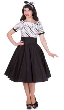 Dolly and Dotty Kleid Darlene black'n white Dots