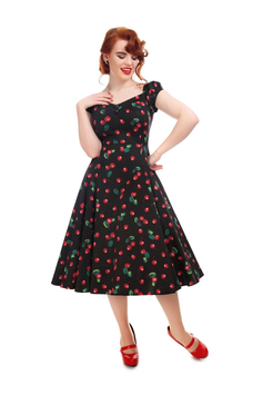Collectif Kleid Dolores Doll Cherry