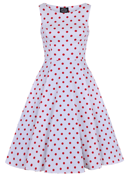 Hearts & Roses Kleid Sandy weiss-rot