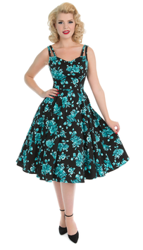 Hearts & Roses Kleid Rosalie black