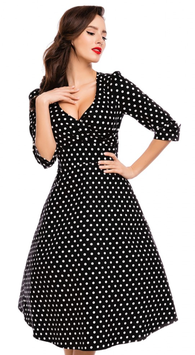 Dolly and Dotty Kleid Katherine Black Polkadots