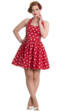 Hell Bunny Kleid Nicky Mini rot