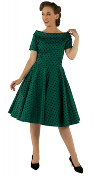 Dolly and Dotty Kleid Darlene grün Polkadots