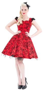 Hearts & Roses Kleid Selena rot-schwarz