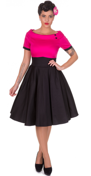Dolly and Dotty Kleid Darlene schwarz-pink