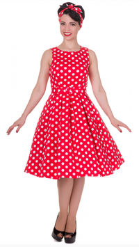 Dolly and Dotty Kleid Annie Red White Polkadots