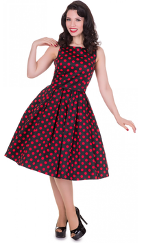 Dolly and Dotty Kleid Annie Black Red Polkadots