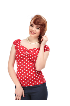 Collectif Top Dolores Polka rot