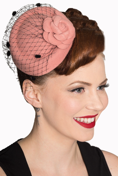Banned Fascinator Marilyn rosa