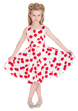Hearts & Roses Kleid White Cherry Kids
