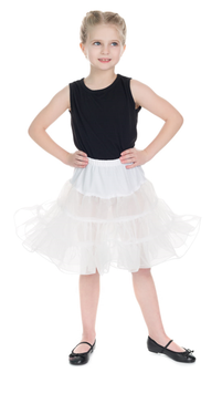 Hearts and Roses Petticoat weiss Kids