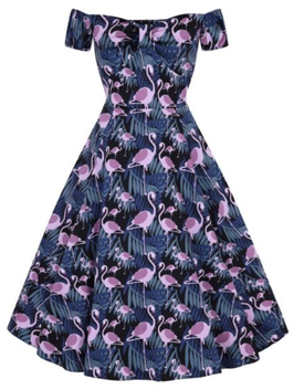 Lady Vintage Kleid Josie Dark Flamingo