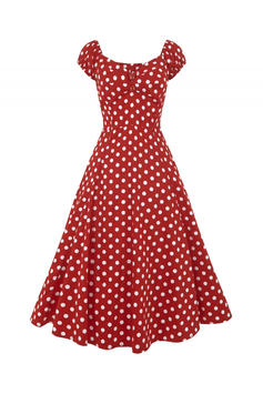 Collectif Kleid Dolores rot