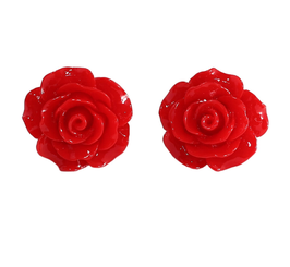 Collectif Ohrstecker English Rose rot
