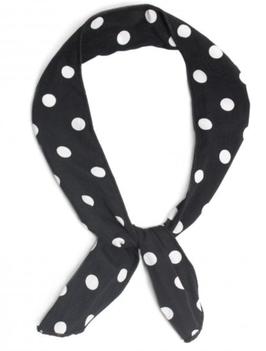 Haarband Collectif Polka Dot Wire schwarz