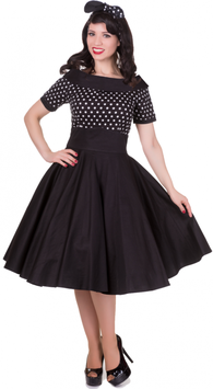 Dolly and Dotty Kleid Darlene black Polkadots