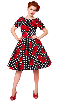 Dolly and Dotty Kleid Darlene Dots and Roses