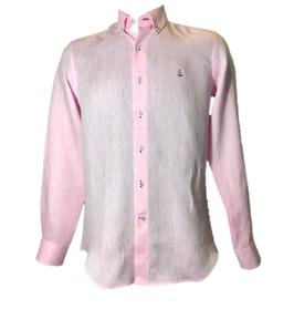 Camisa Rosa Lino 100%