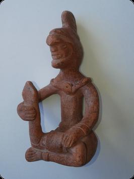 Statuette Azteque en terre cuite