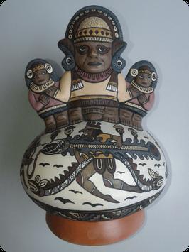 Vase céramique signé Antonio Olave - Art Chimu