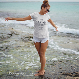 T-Shirt *THE OCEAN IS MY HAPPY PLACE*