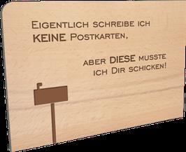Holzpostkarte Keine