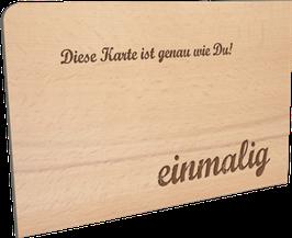 Holzpostkarte einmalig