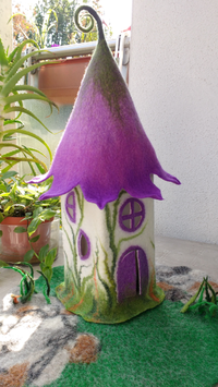 Filz-Tischlampe Glockenblume