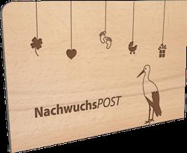 Holzpostkarte Nachwuchspost
