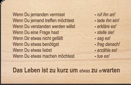 Holzpostkarte kurz