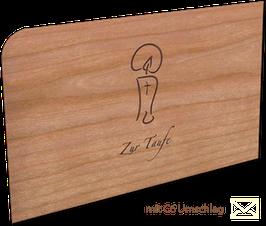 Holzkarte mit Umschlag Taufe