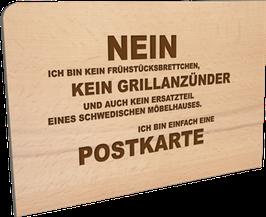 Holzpostkarte Nein