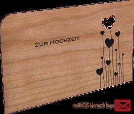 Holzkarte Zur Hochzeit