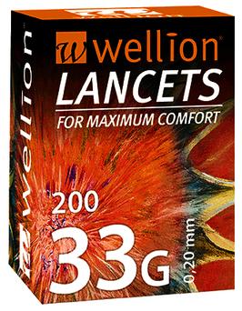 Wellion LANCETS 33G - 200 ST