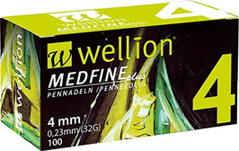 Wellion MEDFINE plus Pennnadeln 0,23x4mm (32G) - 100 ST