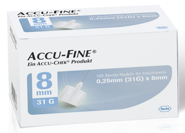Accu-Fine Pennadeln 0,25x8mm (31G) - 100 ST