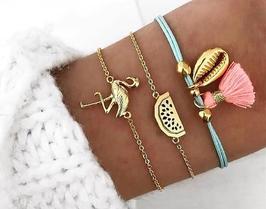 Armband: Flamingo 3-teilig