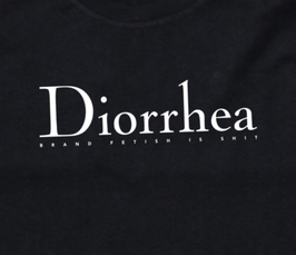 "Black Unisex/Oversized-Shirt ""DIORRHEA"""