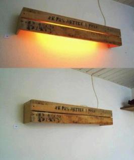 APLIQUE LAMPARA DE PALETS