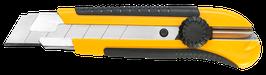 Cutter renforce 25mm Profi, bi-matière, lame cassable