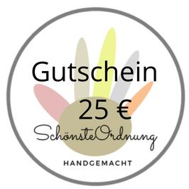 SchönsteOrdnung  Geschenk Gutschein für 25 €