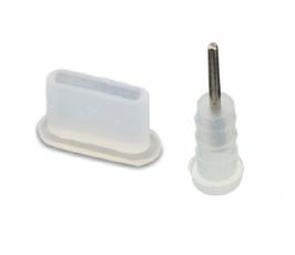3x SET ANTI DUST PLUG STOPPER SILICONE SET USB TYPE-C + EARPHONE JACK 3.5MM