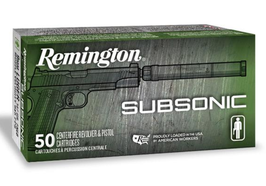 Remington 9mm Luger Subsonic FNEB 147gr.