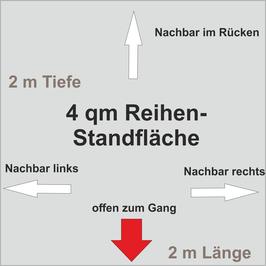 4 qm Reihen-Standfläche (2 m x 2 m )