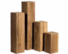 Deko-Säule Holz, Teak, natur